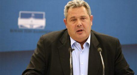 Π. Καμμένος: Όταν έρθει στη Βουλή η συμφωνία με την ΠΓΔΜ, αποχωρώ από την κυβέρνηση