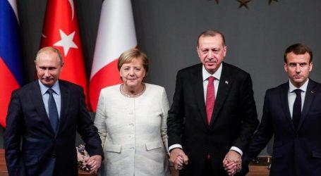 Κωνσταντινούπολη: Κατάπαυση πυρός στη Συρία πρότειναν Πούτιν, Ερντογάν, Μέρκελ, Μακρόν