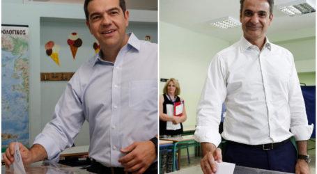 Κάλεσμα Τσίπρα – Μητσοτάκη στους ψηφοφόρους για συμμετοχή στις εκλογές – Ομαλά διεξάγεται η διαδικασία
