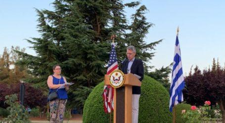 Πάιατ για σχέσεις ΗΠΑ-Ελλάδας: «Οι πολιτικοί και οι διπλωμάτες έρχονται και φεύγουν, αλλά αυτό που έχουμε χτίσει θα μείνει»