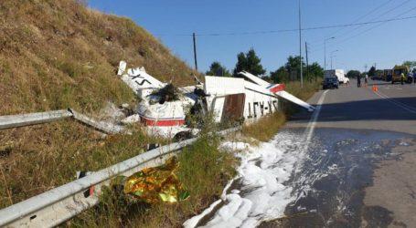 Μονοκινητήριο αεροπλάνο έκανε αναγκαστική προσγείωση στην Εγνατία Οδό κοντά στα Γρεβενά